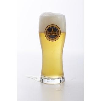 Verre à bière 29 cL en verre transparent La Belle Blonde