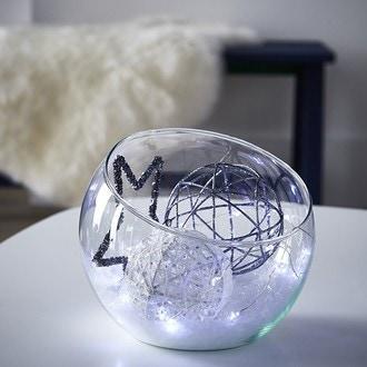 Coupe forme hemispherique en verre transparent boly h18xdiamètre 19,5cm
