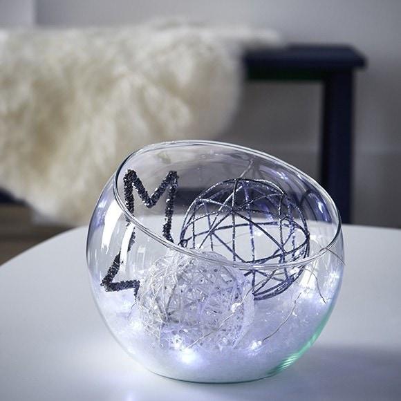 Coupe forme hemispherique verre transparent Boly H18x19,5cm