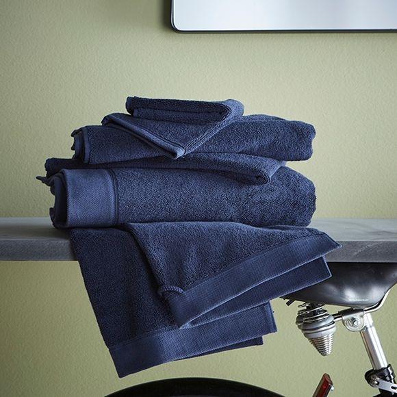 Asciugamano viso in cotone blu 50x100cm