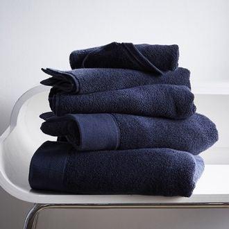 Serviette de douche en coton éponge encre 70x140cm