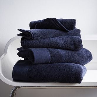 Serviette de bain en coton éponge encre 100x150cm