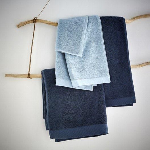 Guanto da bagno in cotone blu grigio