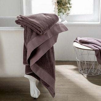 Maom - serviette de bain en coton éponge bois de rose 100x150cm