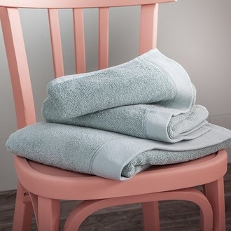 Maom - serviette de bain en coton éponge sauge 100x150cm