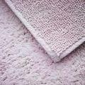 Tapis de bain 60x60cm en coton éponge rose clair