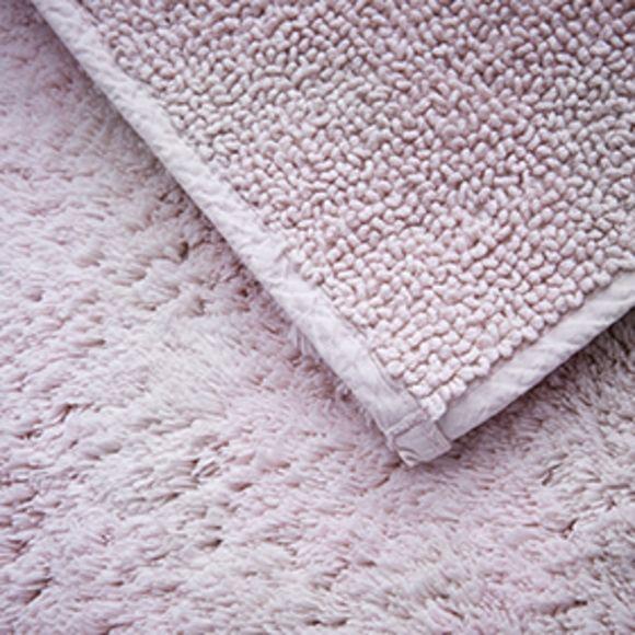 Achat en ligne Tapis de bain 60x60cm en coton éponge rose clair