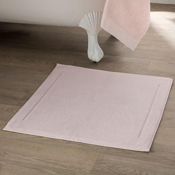 acquista online Tappeto da bagno rettangolare in spugna di cotone rosa 60x100