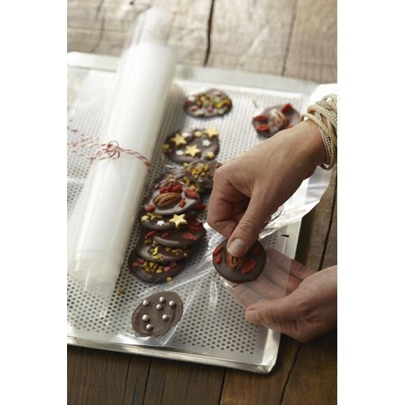 Set 10 feuilles guitare polyéthylène pour chocolat30x40cm