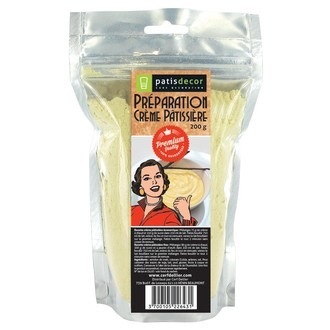 PATISDECOR - Préparation pour crème pâtissière à chaud en sachet refermable 200g