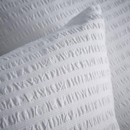 Copripiumino singolo in cotone bianco effetto stropicciato
