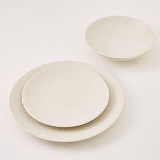 Assiette calotte vezuvio blanche 19cm