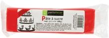 Achat en ligne Pâte à sucre rouge aromatisée vanille 100g