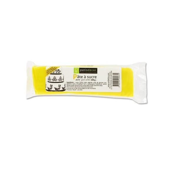 compra en línea Fondant de azúcar sabor vainilla amarillo Patisdecor (100 gr)