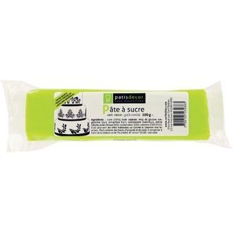 PATISDECOR - Pâte à sucre vert citron aromatisée vanille 100g