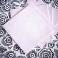 50 serviettes 40x40cm intissées rose poudre
