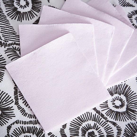 Achat en ligne 50 serviettes 20x20cm en papier celi ouate rose poudre