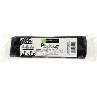 PATISDECOR - Pâte à sucre noire aromatisée vanille 100g