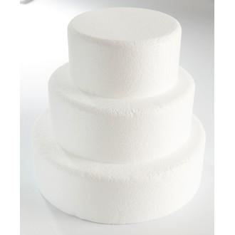Cake dummie rond en polystyrène 15x7cm