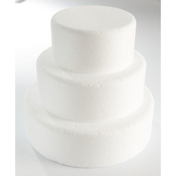 Cake dummie rond en polystyrène 25x7cm