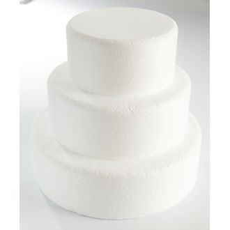 Cake dummie rond en polystyrène 30x7cm