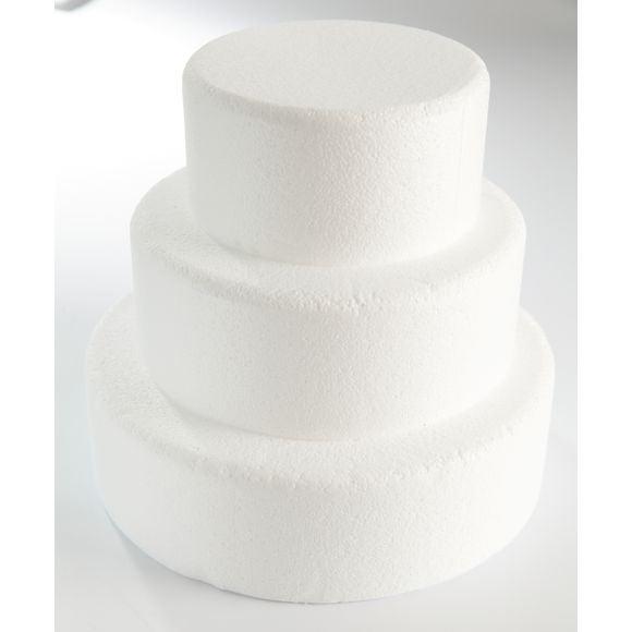 Cake dummie rotondo in polistirolo 30x7cm