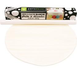 acquista online Pasta da zucchero bianca da srotolare gusto vaniglia 36cmx4mm