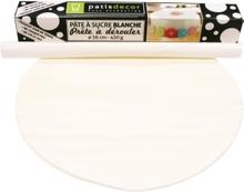 Achat en ligne Pâte à sucre blanche prête à dérouler vanille 36cmx4mm 430g