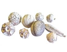 Achat en ligne Mélange de boules décoratives blanches Shola Ball