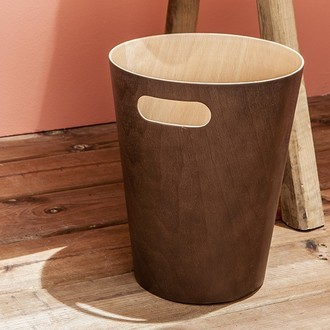 Umbra - poubelle de salle de bain ouverte en bois