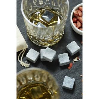 9 glaçons réutilisables en pierre avec sac de rangement