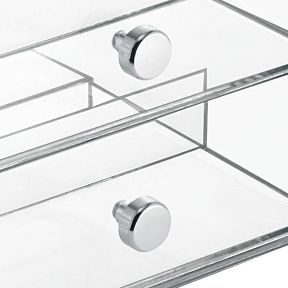 Contenitore porta trucchi in acrilico 3 cassetti 18x16,5x18