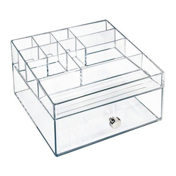 Contenitore per il trucco 11 scomparti e 1 cassetto