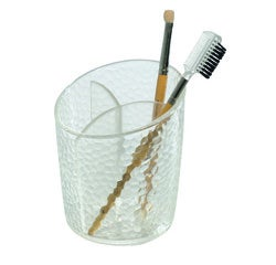 compra en línea Bote soporte de lápices y brochas de maquillaje 3 compartimentos