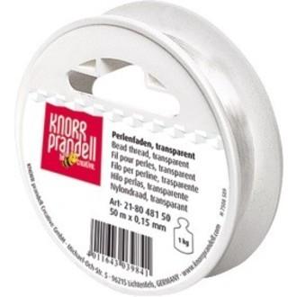 Fil en nylon blanc 0,15mmx50m