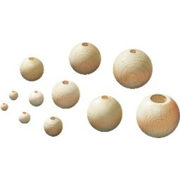 Indispensables 47 boules en bois d'hêtre Ø10mm
