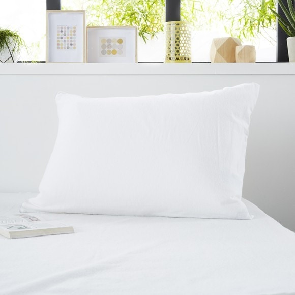 Protège oreiller molleton absorbant zippé 50x70cm