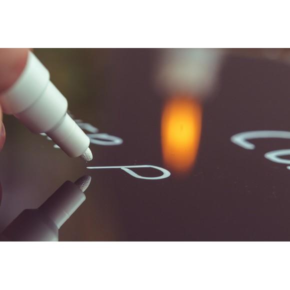 Indispensables marqueur craie à pointe fine blanc sous blister 2,5 mm