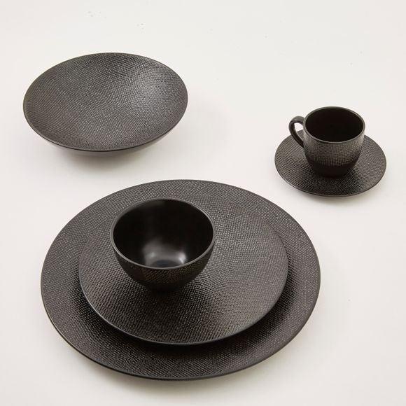 Achat en ligne Assiette calotte Vezuvio noire 19cm