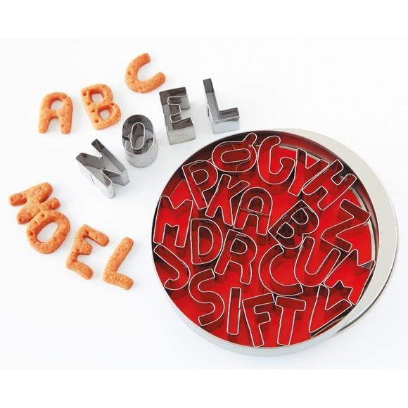 Set di 26 tagliapasta alfabeto in acciaio inox 2,5cm