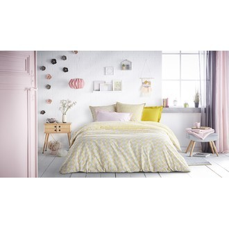 Zodio - taie d'oreiller rectangle en coton blush 50x70cm