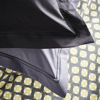 Maom - taie d'oreiller carrée en percale caviar 65x65cm