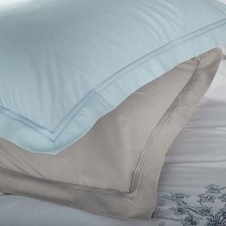 Zodio - taie d'oreiller carrée en percale pervenche 65x65cm