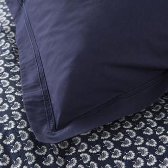 Taie d'oreiller carrée en percale encre 65x65cm