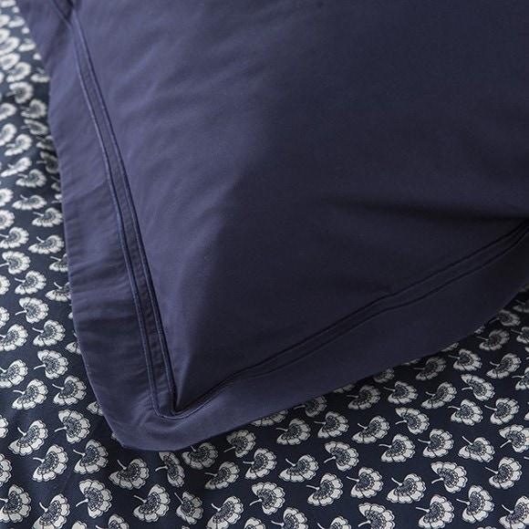 Federa quadrata in cotone percalle blu 65x65cm