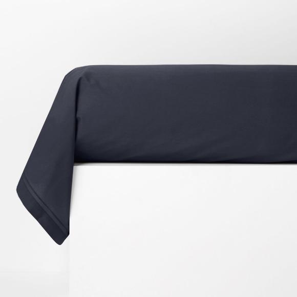 Federa per traversino in cotone percalle blu 44x185cm