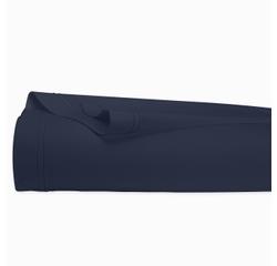 compra en línea Sábana lisa de percal con reborde azul marino (270 x 300 cm)