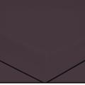 Drap housse en percale aubergine 180X200cm
