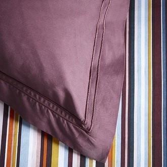 Maom - taie d'oreiller carrée en percale aubergine 65x65cm