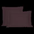 Taie d'oreiller rectangle en percale aubergine 50x70cm